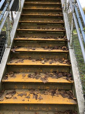 Renig bridge yellow steps need ladder