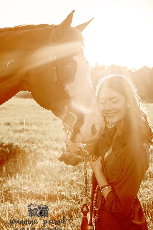 Jeannine Pound Photography   Horses & Lavender - Eastlake High